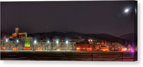 Washington Hall At Night Canvas Print