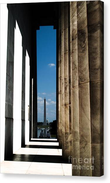 Washington Monument Color Canvas Print