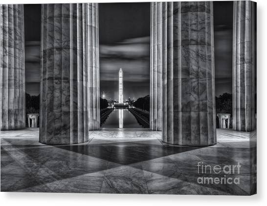Washington Monument From Lincoln Memorial II Canvas Print