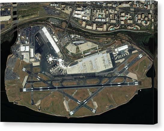 Washington Nationals Canvas Print - Washington National Airport by Geoeye/science Photo Library
