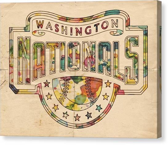 Washington Nationals Canvas Print - Washington Nationals Poster Art by Florian Rodarte