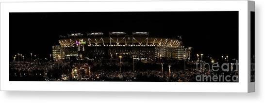 Washington Redskins Canvas Print - Washington Redskins Fedex Field by Unknown
