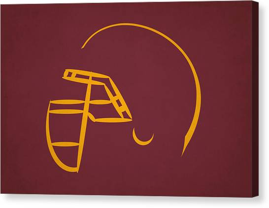 Washington Redskins Canvas Print - Washington Redskins Helmet by Joe Hamilton