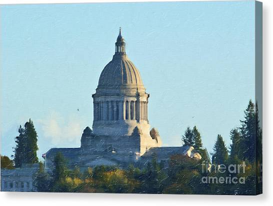 Canvas Print featuring the photograph Washington State Capitol by Susan Parish
