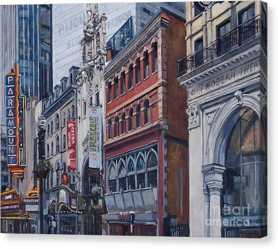 Washington Street In June Canvas Print
