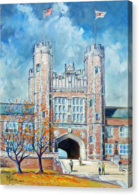 Washington University St.louis - Fall Canvas Print