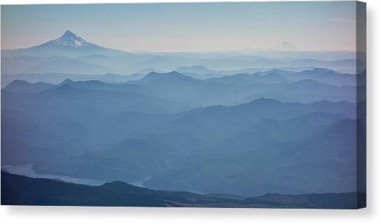 Washington View From Mount Saint Helens Canvas Print by Matt Freedman