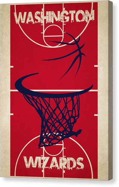 Washington Wizards Canvas Print - Washington Wizards Court by Joe Hamilton