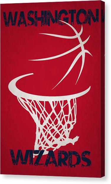 Washington Wizards Canvas Print - Washington Wizards Hoop by Joe Hamilton