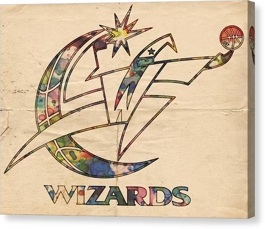 Washington Wizards Canvas Print - Washington Wizards Poster Art by Florian Rodarte