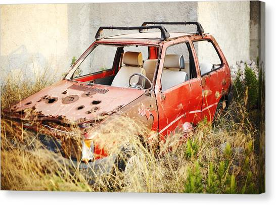 Waste Car Canvas Print by Jaroslavas Macko