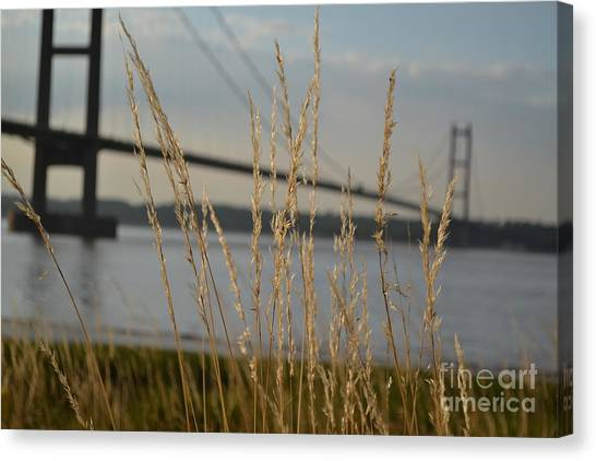 Canvas Print featuring the photograph Wasting Time By The Humber by Scott Lyons