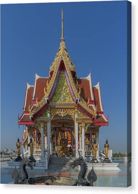 Wat Bukkhalo Central Roof-top Pavilion Dthb1809 Canvas Print