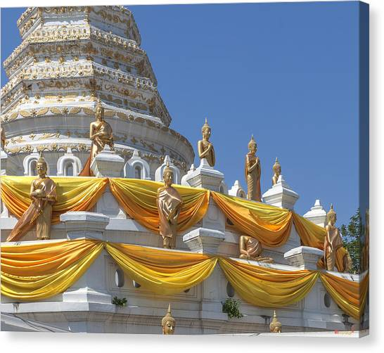 Wat Songtham Phra Chedi Buddha Images Dthb1916 Canvas Print