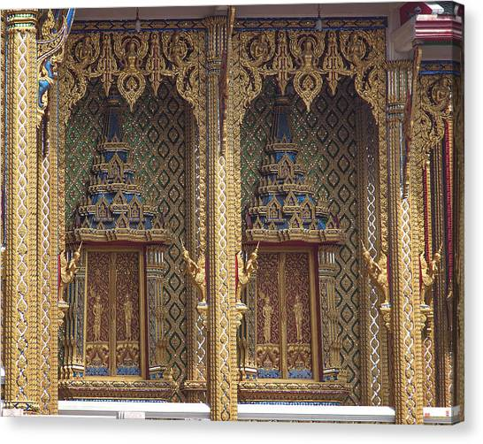 Wat Thung Setthi Ubosot Window Dthb1550 Canvas Print