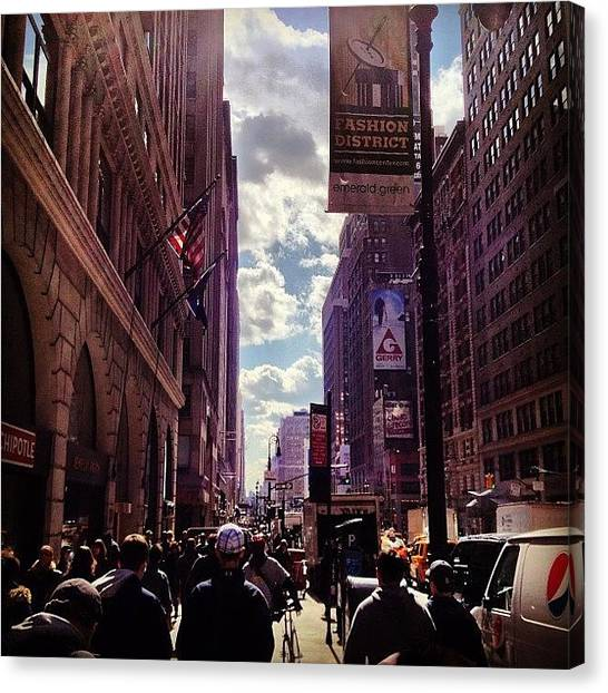 Pepsi Canvas Print - Watch The Clouds Over Fashion District by Hagop Hagopian