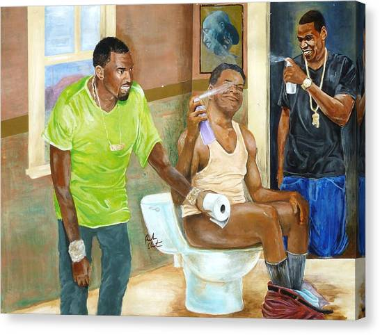 Jay Z Canvas Print - Watch The Throne by Reuben Cheatem