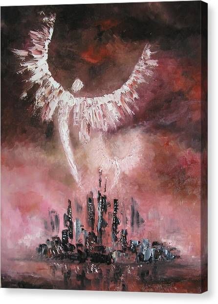 Watchers Over The City Canvas Print