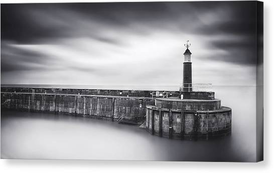 Harbour Canvas Print - Watchet Lighthouse by Catalin Alexandru