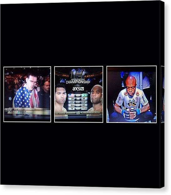Ufc Canvas Print - Watchin' The Fight.. #andersonsilva by Kid Culprit