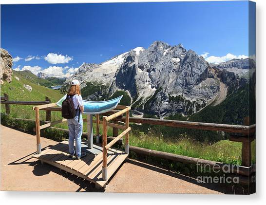 watching Marmolada mount Canvas Print