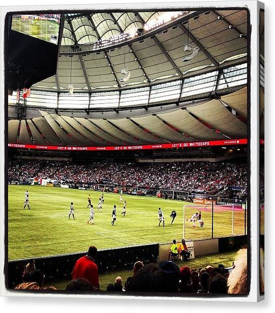 Portland Timbers Canvas Print - Watching #mls #vancouver #whitecaps by NRyan Ferrer