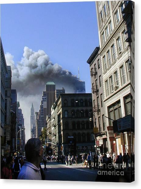 Watching North Tower Burning Canvas Print