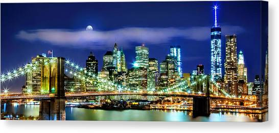 New York Skyline Canvas Print - Watching Over New York by Az Jackson