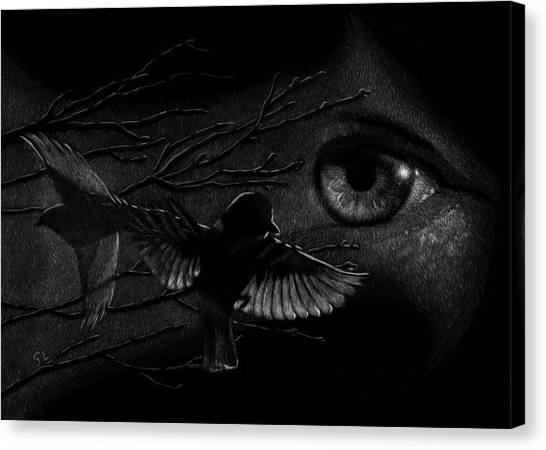 Watching Over Sparrows Canvas Print