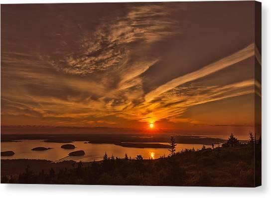 Watching The Sunrise Canvas Print