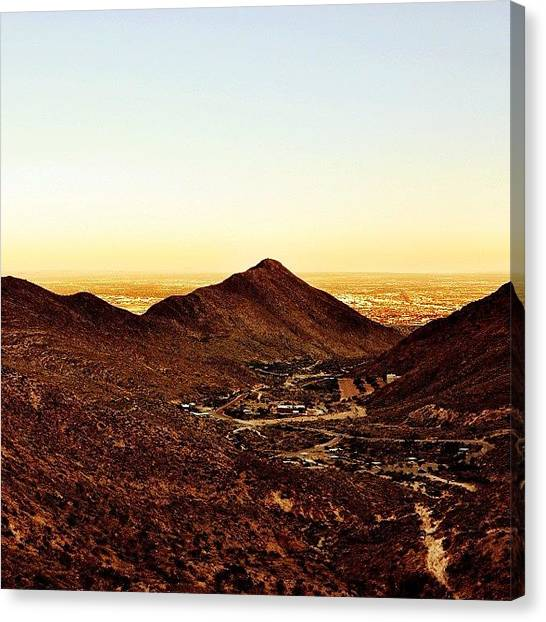 Spelunking Canvas Print - Watching The #sunset From Inside Of A by Orlando Diaz