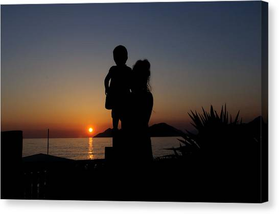 Watching The Sunset Canvas Print by Ivelin Donchev