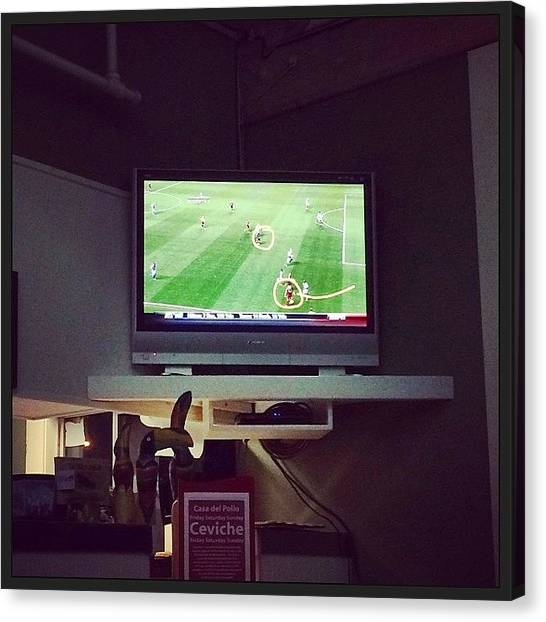 Portland Timbers Canvas Print - Watching The #timbers In #casadelpollo by Nat Lawrence