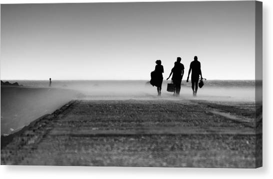 Pier Canvas Print - Watching Them Come And Go by Jo?o Cust?dio