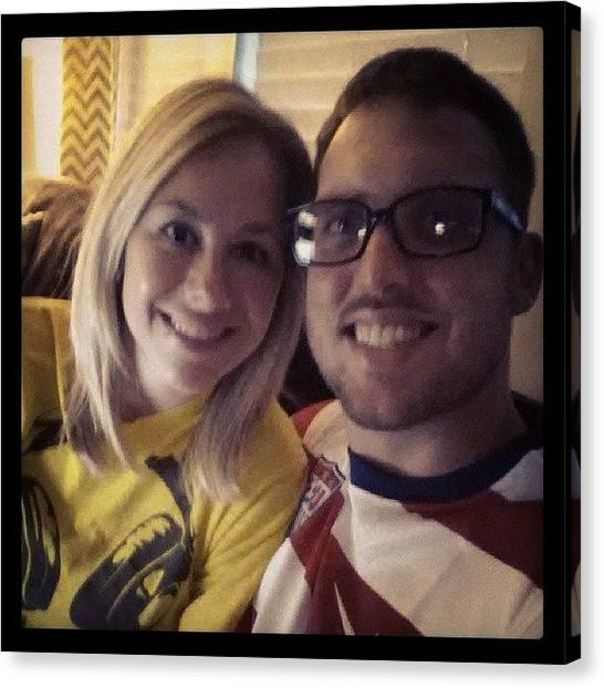 Fifa Canvas Print - Watching Usa Vs. Mexico With My Love by Matt Jones