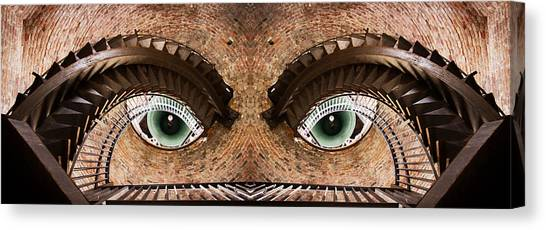 Mirror Canvas Print - Watching You by Paco Palazon