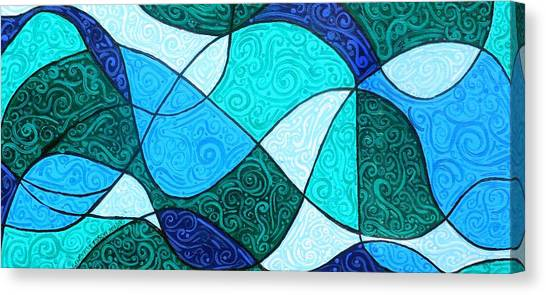 Water Canvas Print - Water Abstract by Genevieve Esson