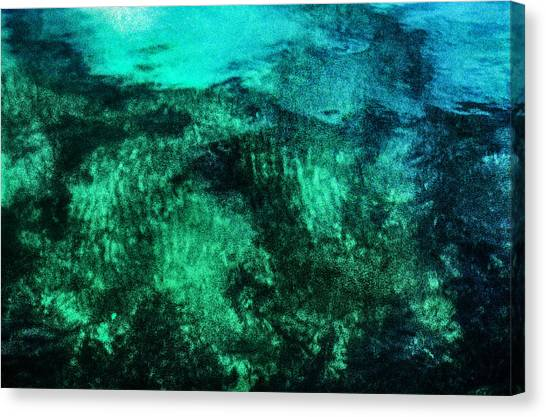 Water Abstraction Canvas Print by Kim Lessel