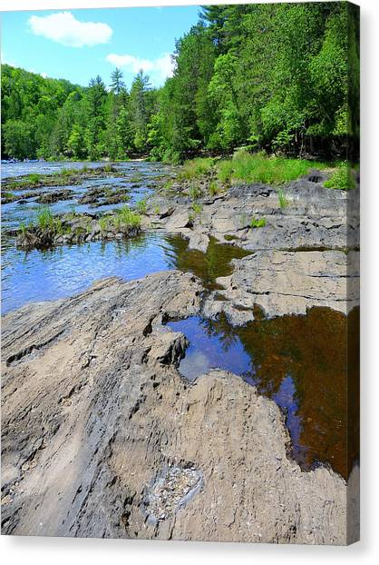Water And Rocks Canvas Print by F Salem