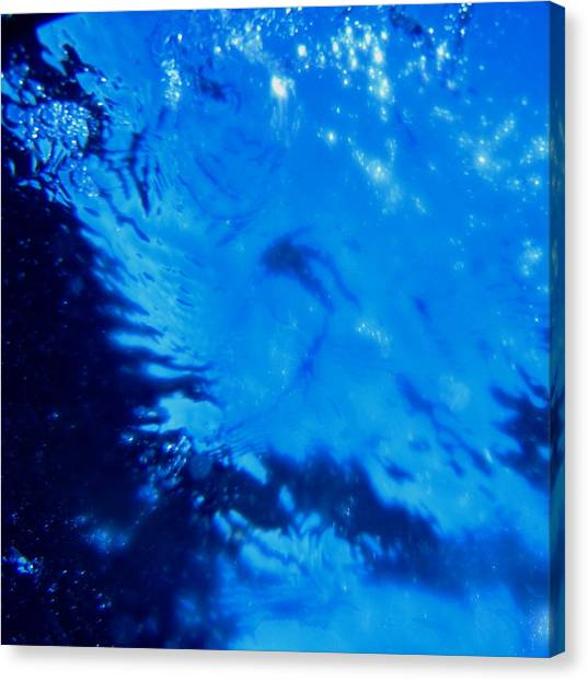 Water And Sky Canvas Print by April Muilenburg