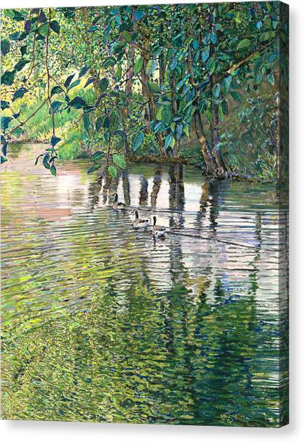 Water And Woodland Canvas Print