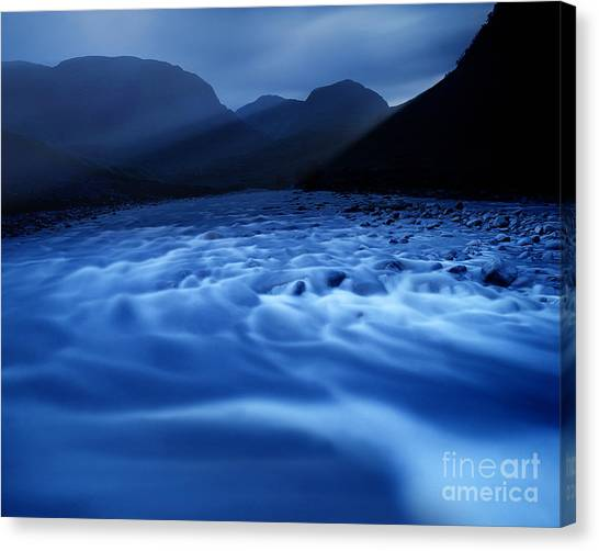 Water Blues Canvas Print