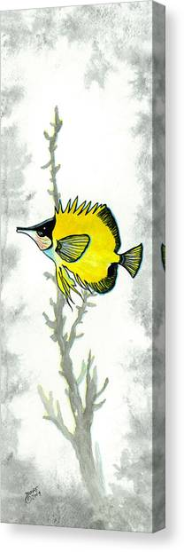 Water Butterfly. Canvas Print