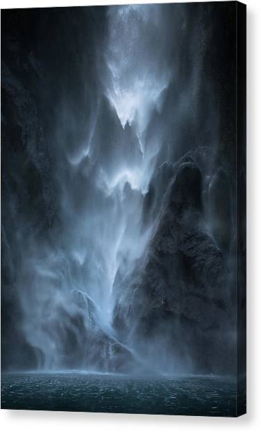 Flowing Canvas Print - Water Dance by John Kitching
