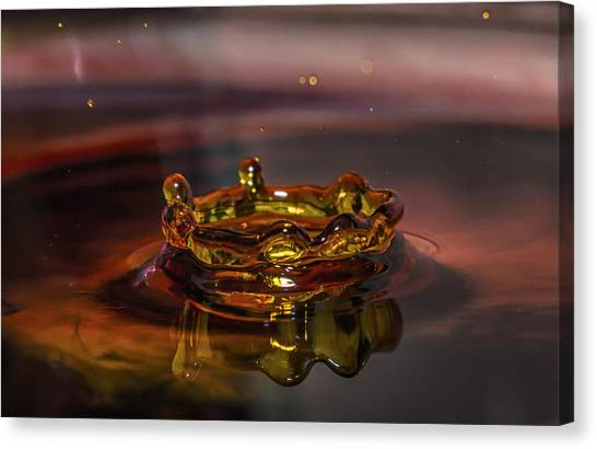Water Drop Art Canvas Print