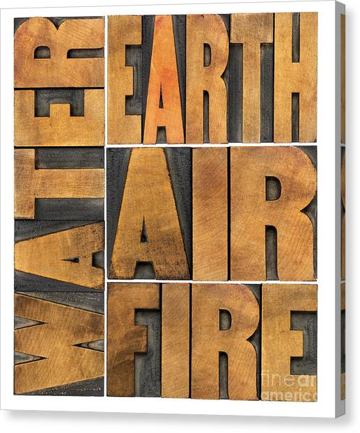 Water Earth Air And Fire Canvas Print
