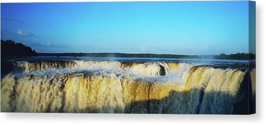 Iguazu Falls Canvas Print - Water Falling From Cliffs, Iguazu by Panoramic Images