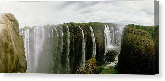 Victoria Falls Canvas Print - Water Falling Into A River, Victoria by Panoramic Images