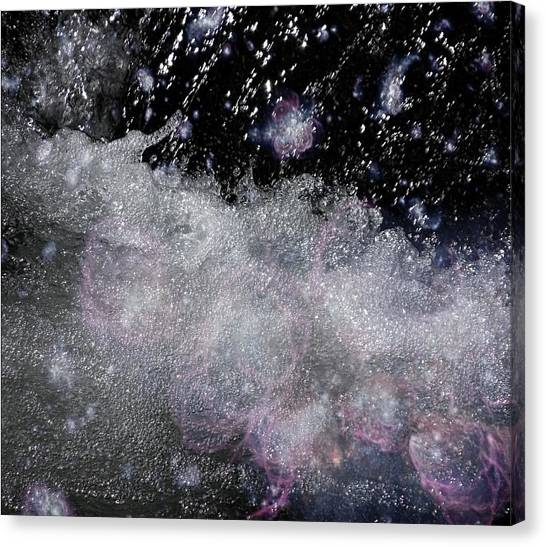 Water Flowing Into Space Canvas Print