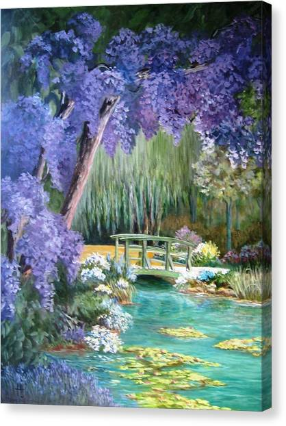 Water Garden Canvas Print by Teresita Hightower